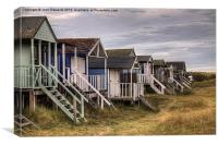 Old Hunstanton Beach Huts, North Norfolk, UK, Canvas Print