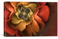 Fractal Pansy, Canvas Print