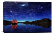 Beneath a jewelled sky, Canvas Print