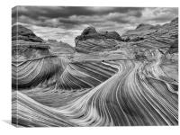 The Wave - Black & White, Canvas Print