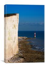 Beachy Head cliffs and Light House, Canvas Print