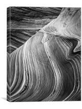 The Wave - Black & White 3, Canvas Print