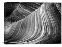 The Wave - Black & White 5, Canvas Print