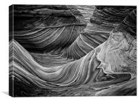the wave - Black & White 6, Canvas Print