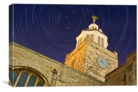Portsmouth Cathedral Star Trails, Canvas Print