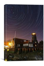 Langstone Mill Startrails, Canvas Print