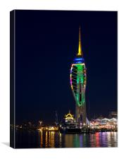 Spinnaker Tower Christmas Tree, Canvas Print