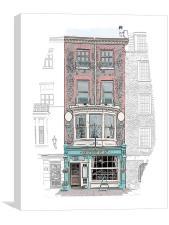 Monks Bar & Restaurant, Canvas Print