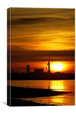 Spinnaker Tower Sunset, Canvas Print