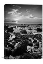 Mupe Rocks at Sunrise Black & White, Canvas Print
