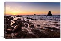 Mupe Rocks Sunrise, Canvas Print