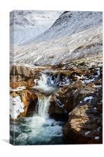 Etive River Cascades, Canvas Print