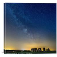 Milky Way over Stonehenge, Canvas Print