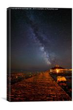Milky Way above St Michaels Mount, Canvas Print