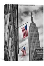Macys & Empire State Building, Canvas Print