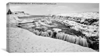 Gullfoss (The Golden Falls), Canvas Print