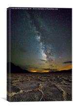 Milky Way over Death Valley, Canvas Print