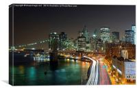 New York Traffic Trails, Canvas Print