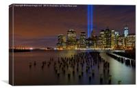 9/11 Tribute in Light from Brooklyn, Canvas Print