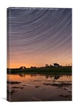 St Huberts Startrails Reflected in Flood Water, Canvas Print