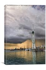 Spinnaker Tower Storm - 1, Canvas Print
