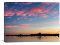 Portchester Castle Sunset, Canvas Print