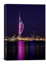 Spinnaker Tower at Dusk, Canvas Print