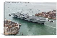 HMS Queen Elizabeth arrives home, Canvas Print