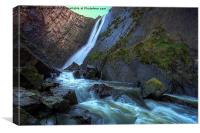 Speke's Mill Mouth waterfall., Canvas Print