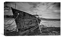 Abandoned trawler, Canvas Print