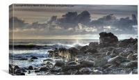 Duckpool rocks, Canvas Print