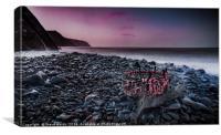 Lobster pot sunset, Canvas Print