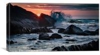 Sunset on Childspit beach, Canvas Print