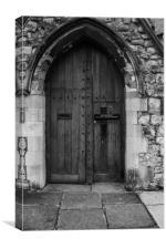Old Wooden Church Door, Canvas Print