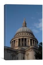 St Paul's Cathedral Dome, Canvas Print