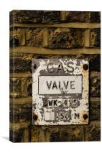 Gas Valve , Canvas Print