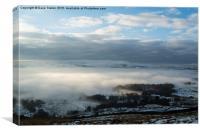 Winter Hill. , Canvas Print