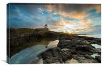 Lighthouse Reflections., Canvas Print