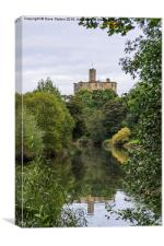 Warkworth Reflections., Canvas Print