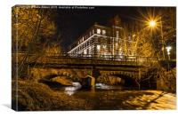 Eagley Bridge., Canvas Print