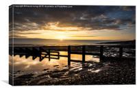 Sunrise over Spittal Beach , Canvas Print