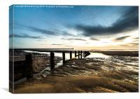 Sunrise over Berwick Pier, Canvas Print