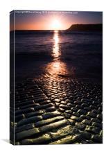 Sunrise over slipway at Robin Hood Bay, Canvas Print