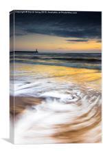 Sunrise on Spittal beach, Canvas Print
