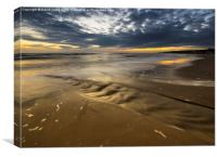 Ripples in the sand, Spittal beach Northumberland, Canvas Print