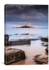 St Marys Lighthouse and Island , Canvas Print