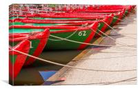 Rowing boats, Canvas Print