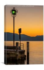 Sunrise Lake Garda, Canvas Print