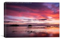 Sunrise over the Island of Fidra East Lothian , Canvas Print