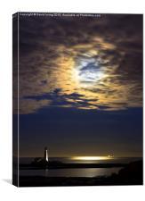 Moonrise over St Marys Island, Canvas Print